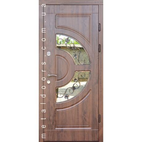 Входные двери Греция со стеклом Форт, серия Премиум