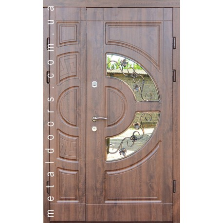 Входные двери Греция со стеклом 1200мм Форт, серия Премиум