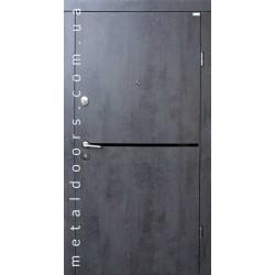 Входные двери Форт, серия Стандарт, модель Лита Black