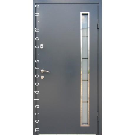 Двери Металл/МДФ со стеклопакетом (термомост)