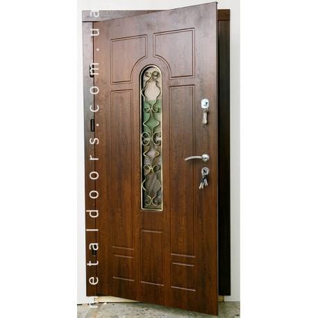 Двери металлические Арка + ковка №2 (Премиум)
