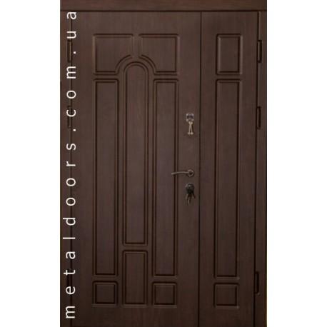 Двери полуторные металлические Арка (Эконом)