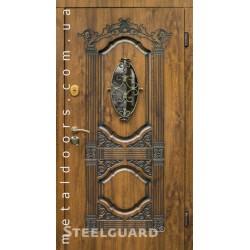 Дверь входная со стеклопакетом Sangria Glass