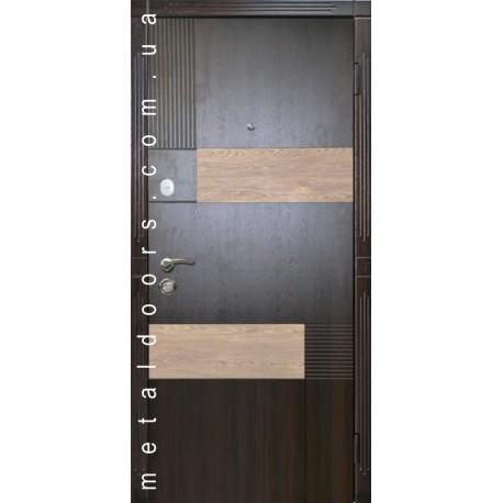 Двери Х501 (Элит 140) орех темный/карпатская ель