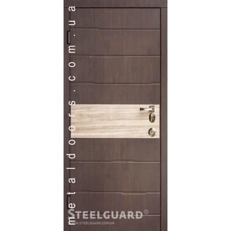 Двери Sten SteelGuard Темный венге / Дуб кантри