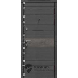 Двери входные Тифани Каскад Элит 140 венге серый горизонтальный/дуб английский