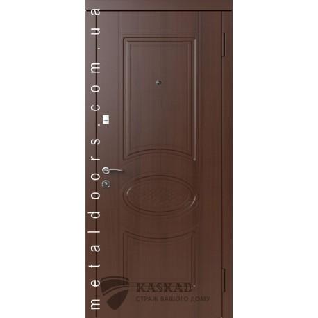 Входные двери Вена Каскад Премиум 100 орех шоколадный/дуб бронза