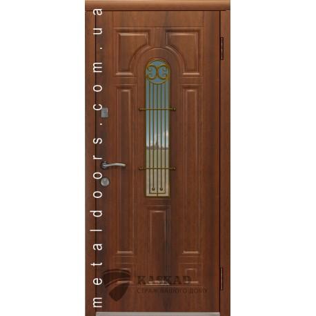 Входные двери Лучия Премиум 80 Каскад дуб золото, бронза