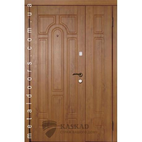 Входные двери 110 Премиум Каскад полуторные дуб золото
