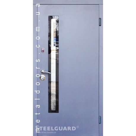 Двери входные AV-1 Grey Glass Resiste SteelGuard