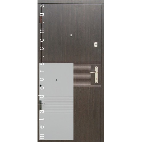 Двери Лайн (эконом) Редфорт венге/ясень белый структурный