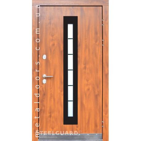 Двери Стилгард Alfa Glass GO золотой дуб