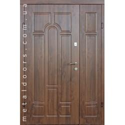Двери входные полуторные Арка (Оптима, 2 трубы)