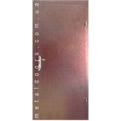 Двери Металл/металл (эконом), 860*2050 мм, левые, RAL-7024