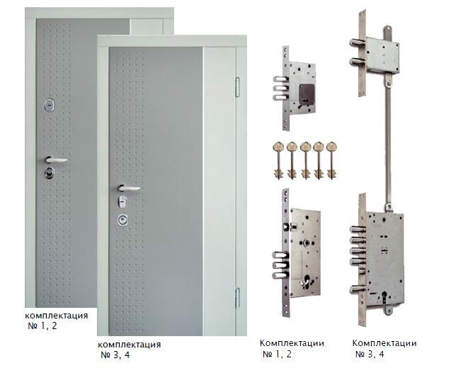 Комплектации дверей серии Интер