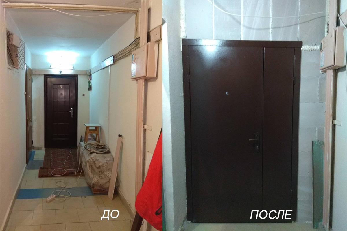 Как установить тамбурную дверь общий коридор