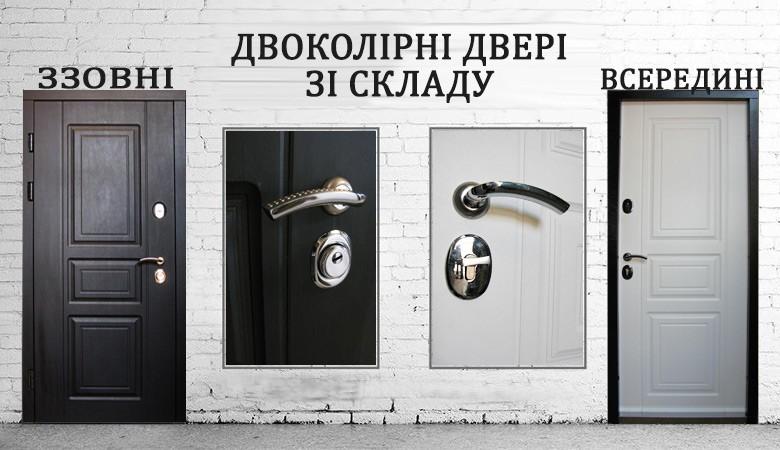 Двоколірні вхідні двері